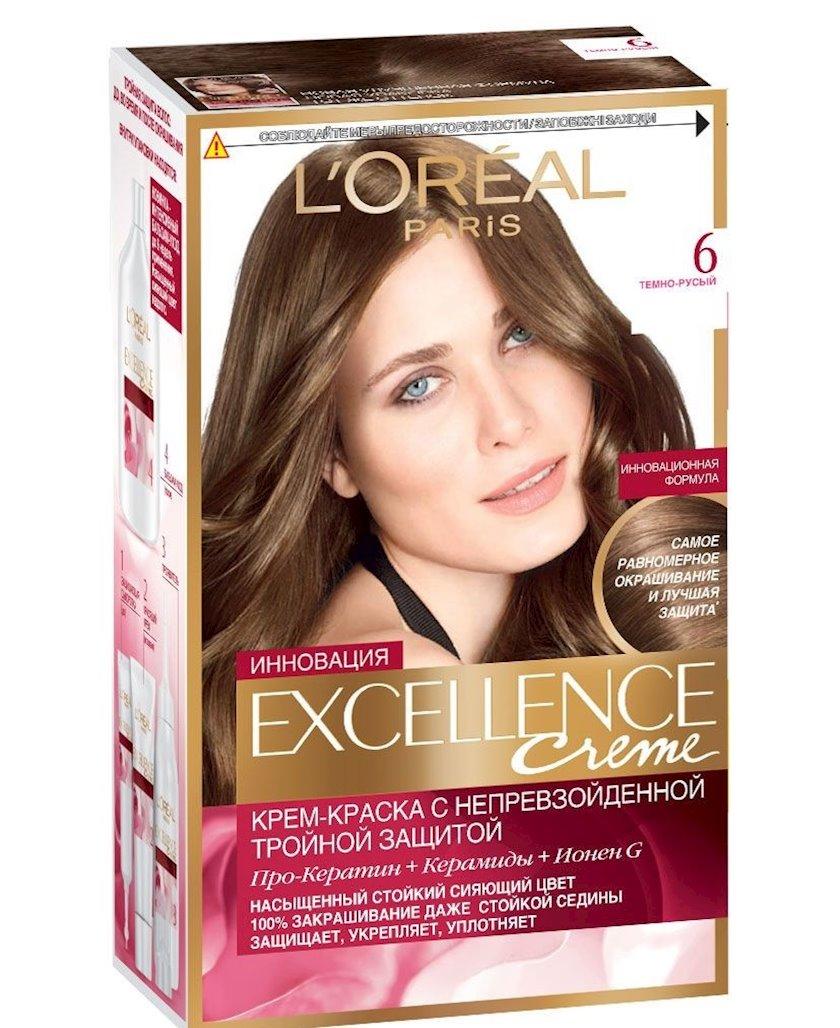 Davamlı saç boyası L'Oreal Paris Excellence Creme çalar 6.00 176 ml