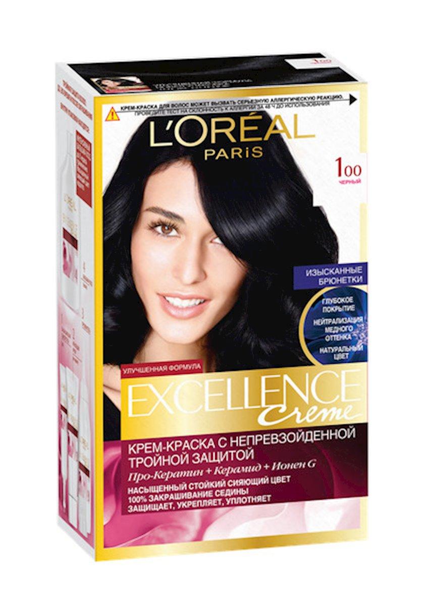 Saç boyası L'Oreal Paris Excellence Creme 100 Qara 176 ml
