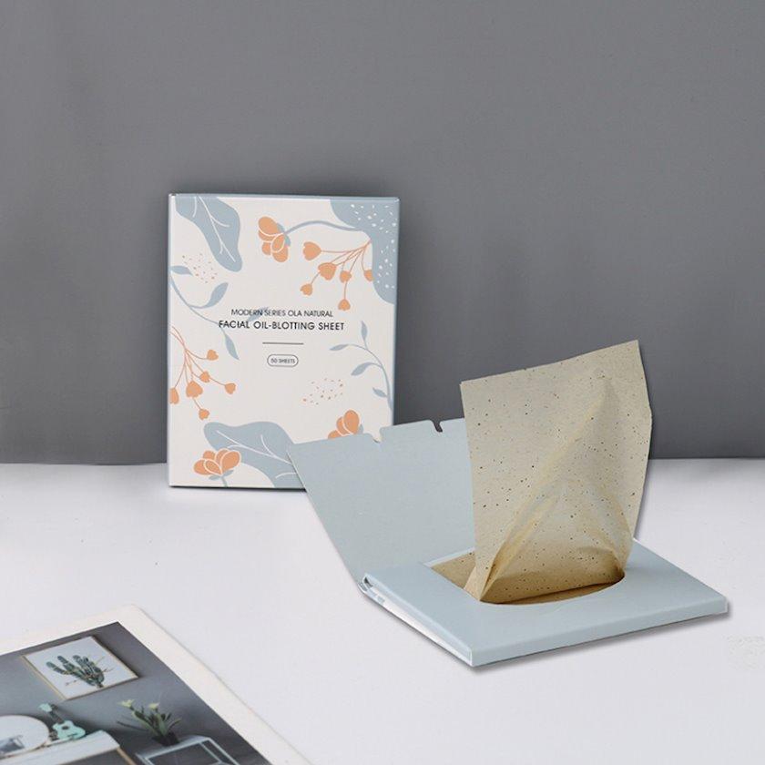 Matlaşdırıcı salfetlər Ximivogue Modern Series Ola Natural Facial Oil-Blotting Sheet 50 əd