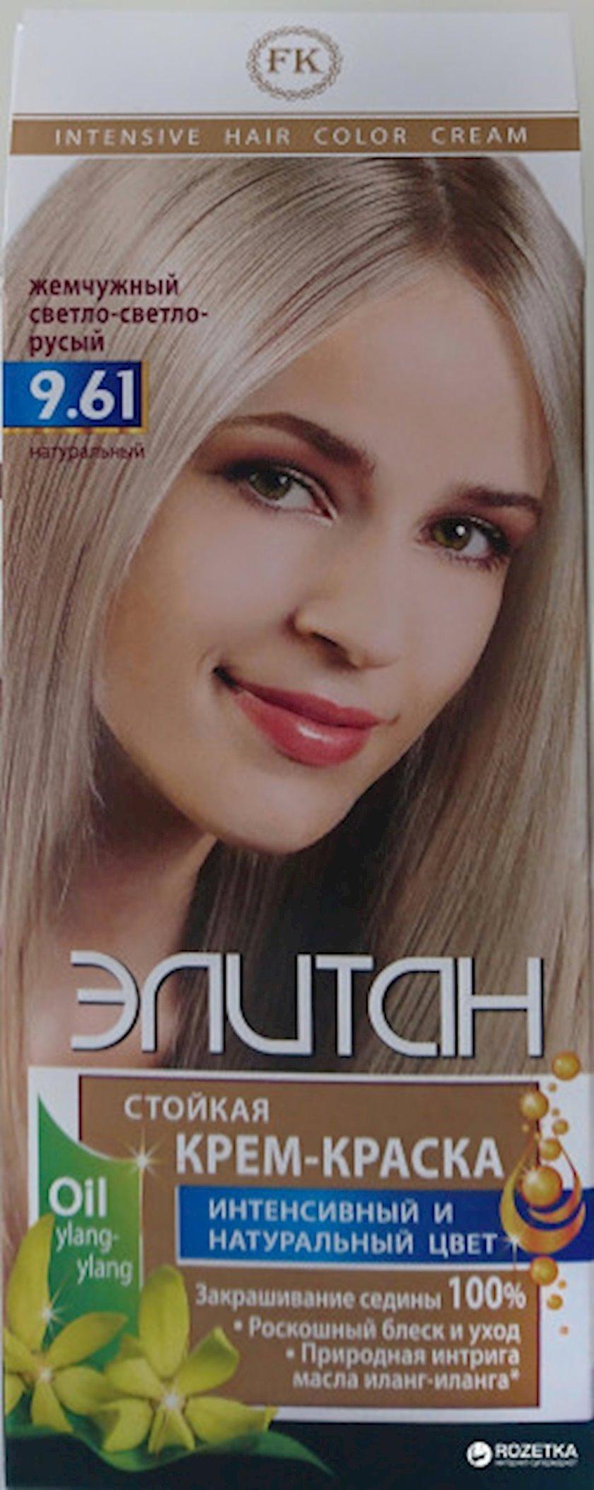 Saç boyası Элитан intensiv 9.61 İnci çox açıq xurmayı