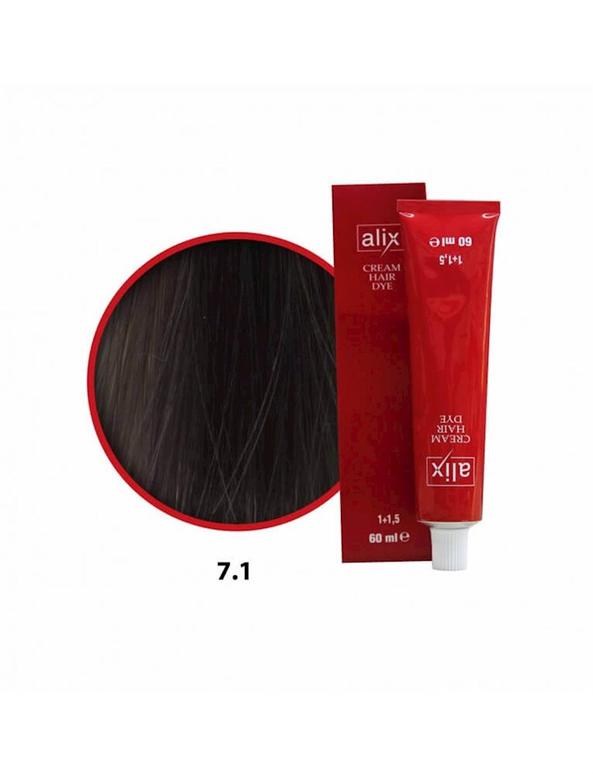Saç boyası Alix 7.1 Xurmayı kül 60 ml