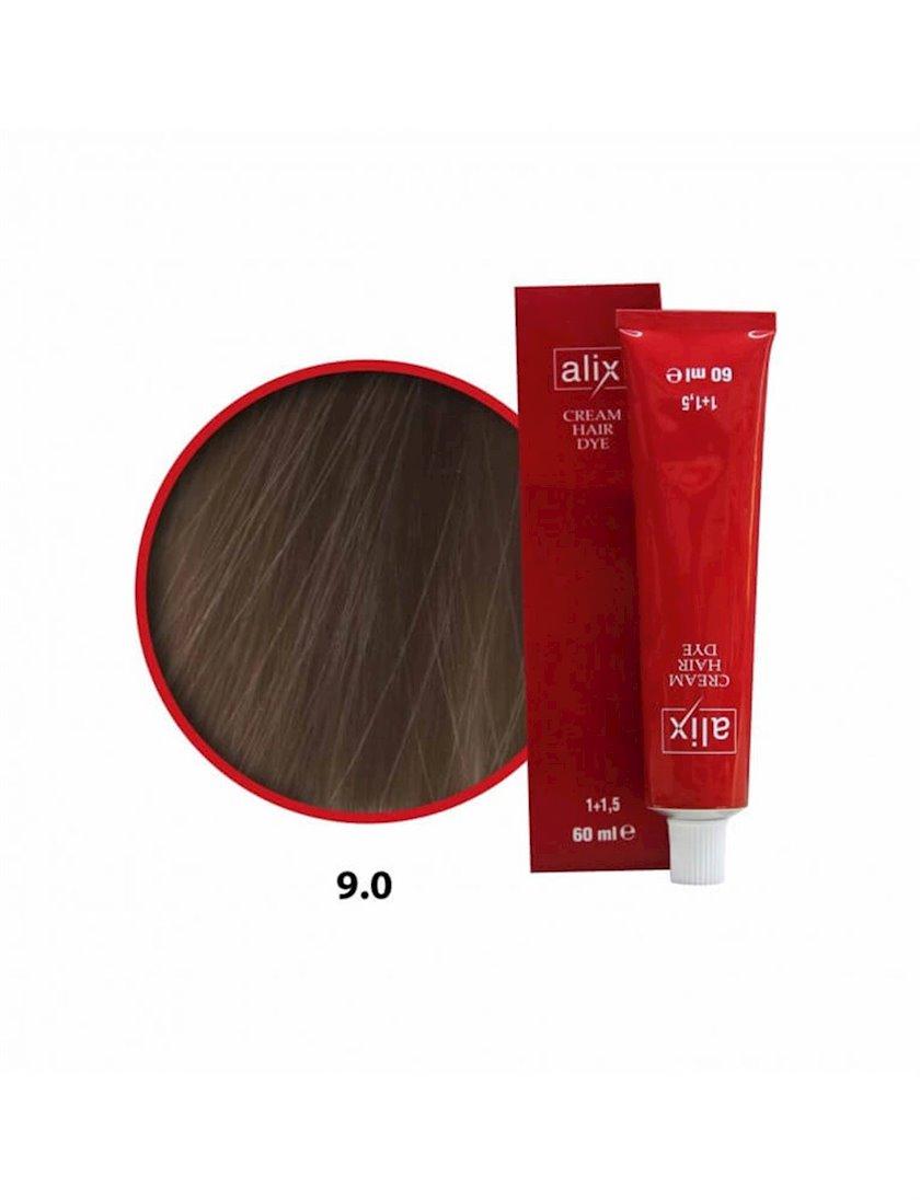 Saçlar üçün krem-boya Alix Professional Cream Hair Dye 9.0 Light blonde 60 ml