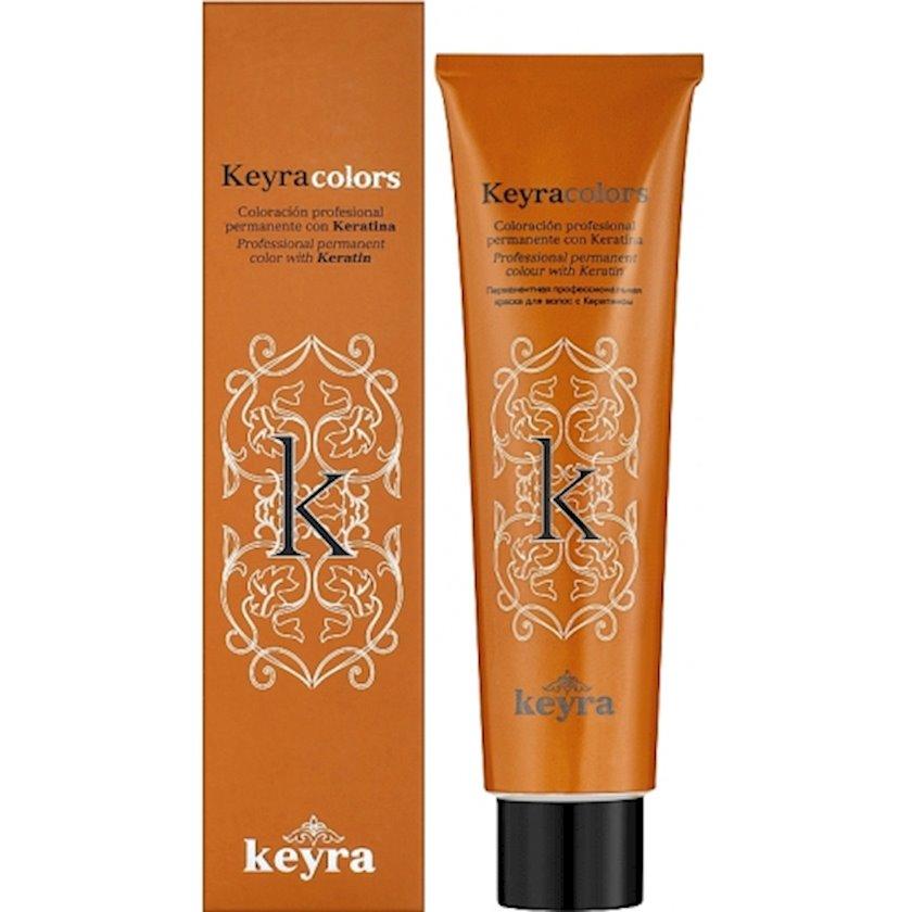 Permanent professional saç boyası keratin ilə Keyracolors 5.82 Açıq şabalıdı şokoladlı sədəf 100 ml