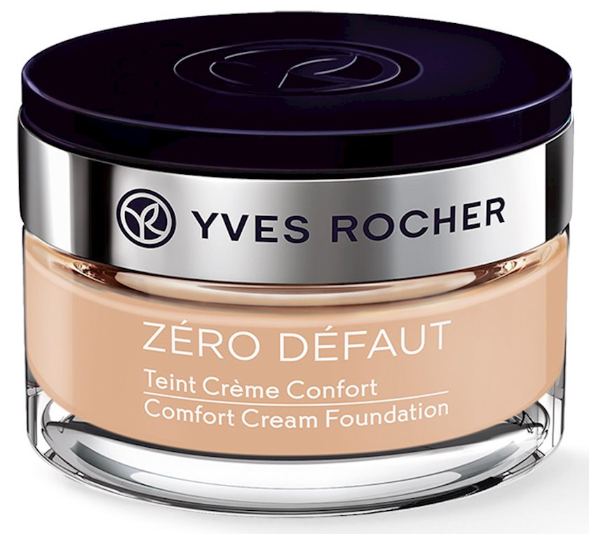 Tonal krem Yves Rocher Comfort Zero Defaut, açıq-bej 100, 40 ml