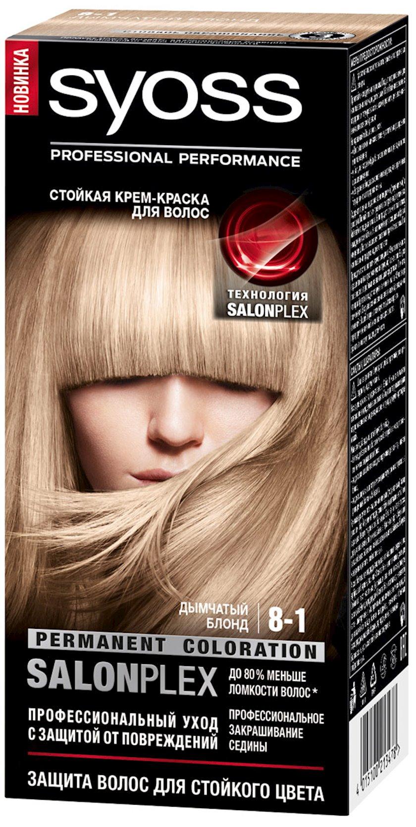 Saç boyası Syoss Color ton 8-1 Dumanlı sarışın 115 ml