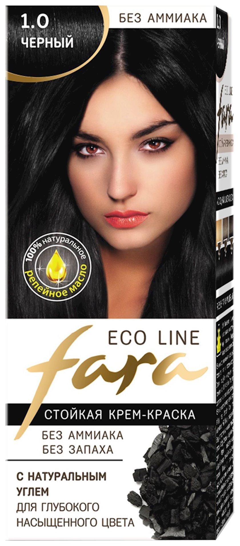Saç boyası Fara Eco Line 1.0 Qara 100 ml