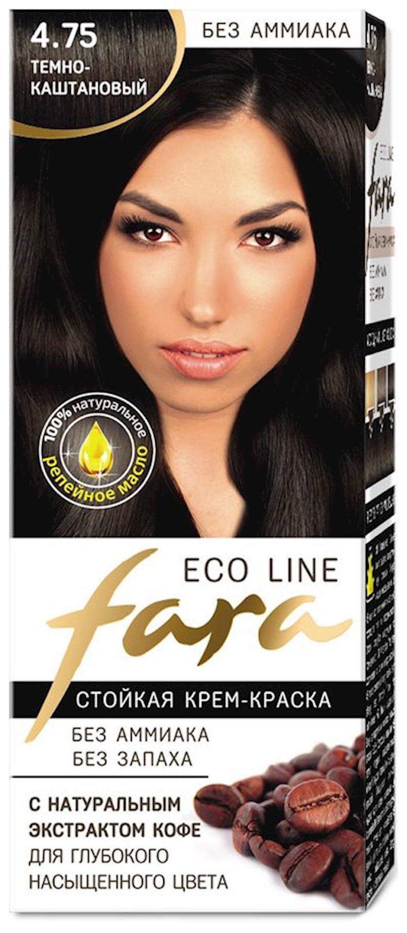 Saç boyası Fara Eco Line 4.75 Tünd şabalıdı 100 ml