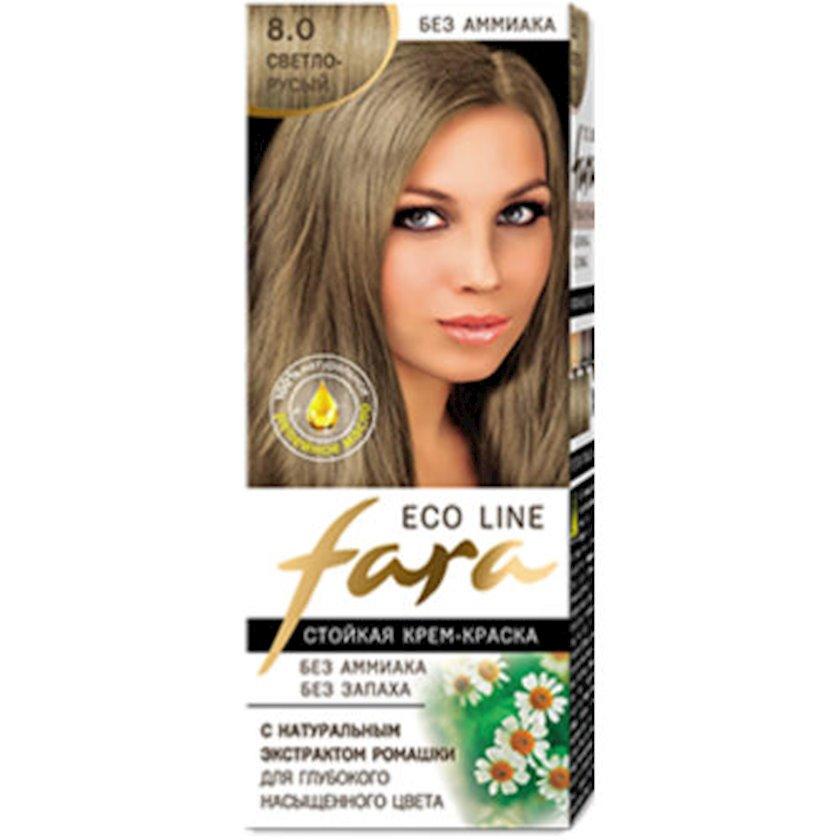 Saç boyası Fara Eco Line 8.0 Açıq xurmayı 100 ml