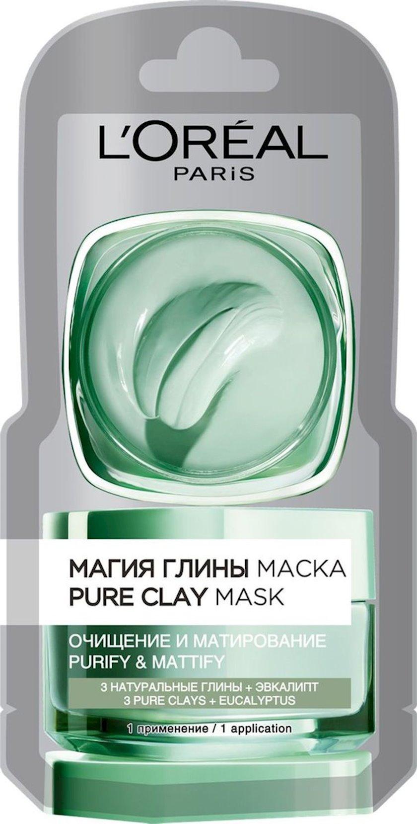 Maska L'Oreal Paris Skin Expert Gil sehri Təmizləmə və matlaşdırma bütün dəri növləri üçün