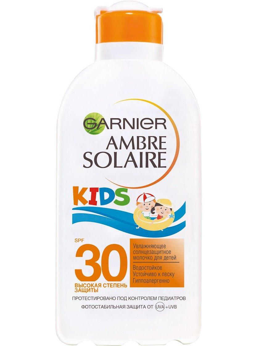 Günəşdən qoruyucu süd uşaqlar üçün Garnier Ambre Solaire Yenilməz, nəmləndirici, suya davamlı, SPF30, 200 ml