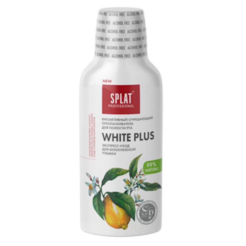 Ağız boşluğu yaxalayıcısı Splat White Plus Antibakterial, ağardıcı plus qar kimi ağ təbəssüm, 275 ml