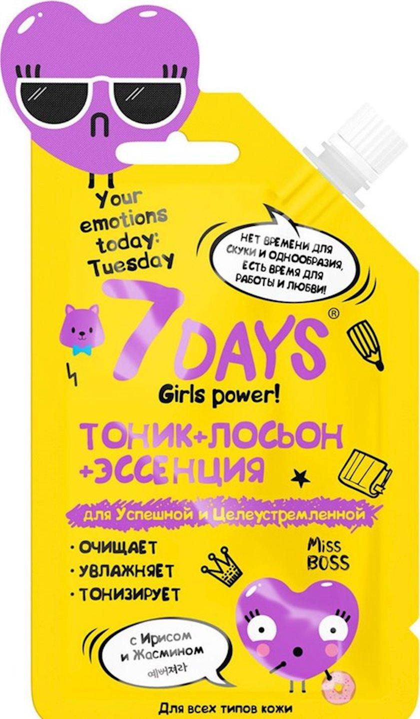 Tonik-losyon süsən və yasəmən ilə Vilenta 7 Days Your Emotions Today Tuesday 20 ml