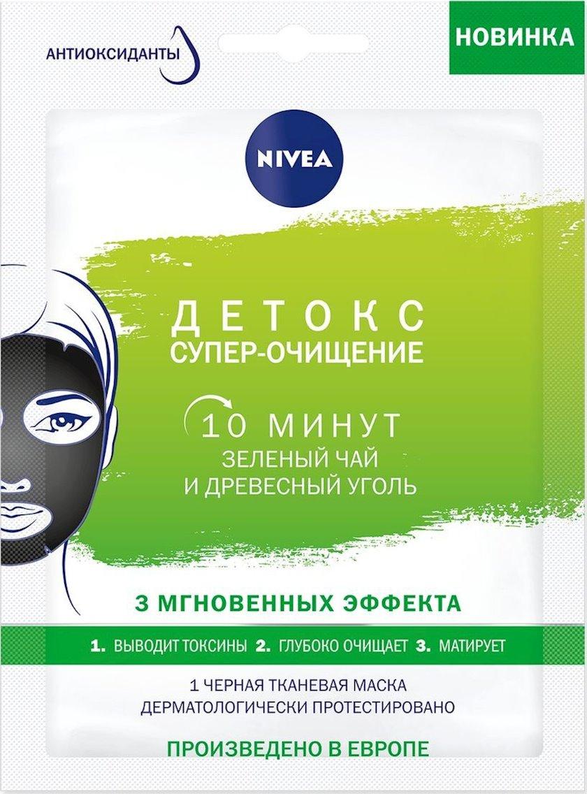 Üz maskası Nivea Detoks - Super-Təmizləmə həssas dəri üçün