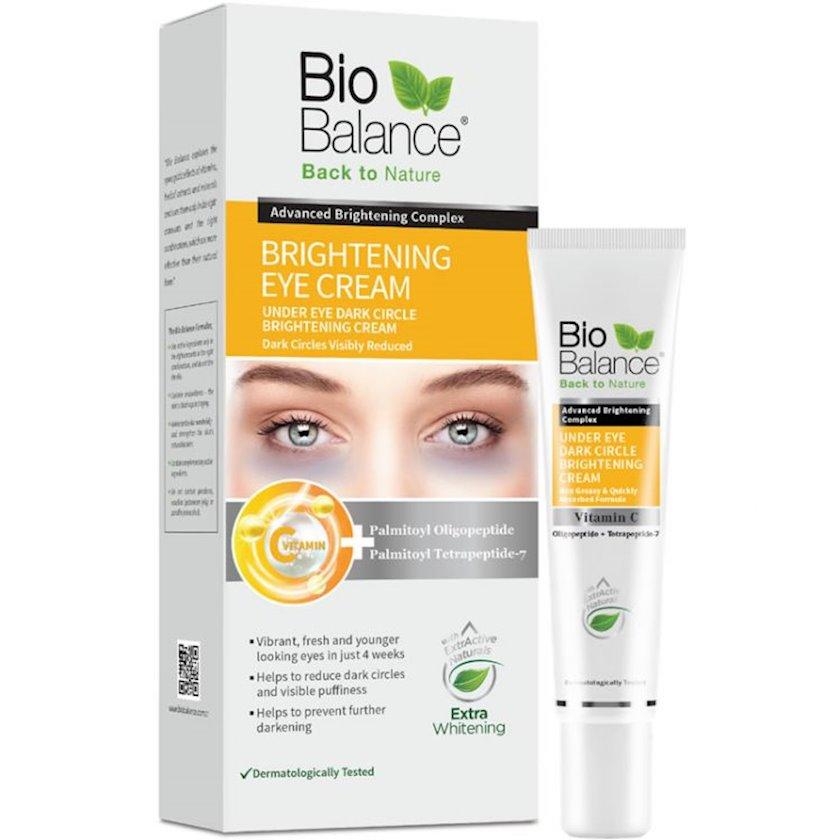 Göz ətrafı qara dairələrin əleyhinə krem Biobalance Brightening, 15 ml