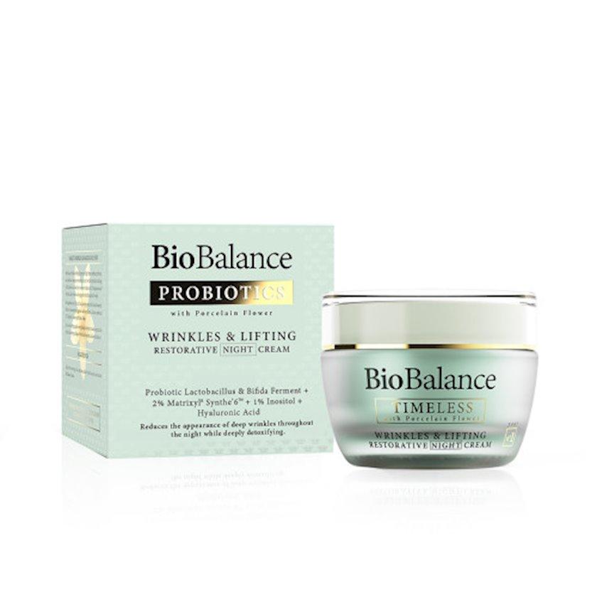 Qırışlara qarşı gecə kremi Biobalance Probiotics Wrinkles&Lifting