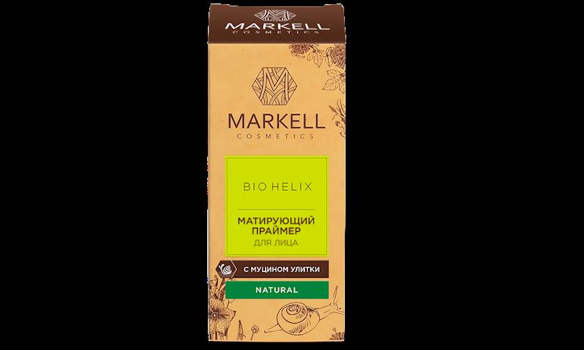 Üz üçün matlaşdırıcı praymer ilbiz müsini ilə Markell Bio-Helix 10 ml