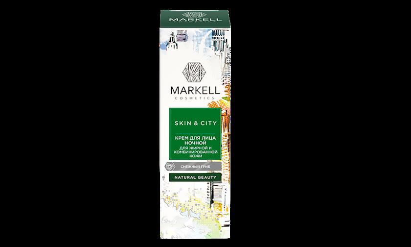 Üz üçün matlaşdırıcı gecə kremi Markell Skin&City 50 ml