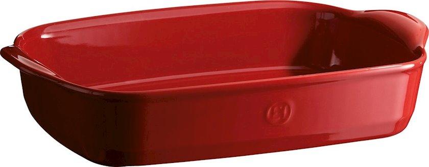 Bişirmə qabı Emile Henry, 36x23 sm, keramika, qırmızı