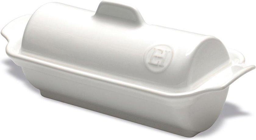 Fua-qra üçün forma Emile Henry 23.5x10.5x9 sm, keramika, ağ