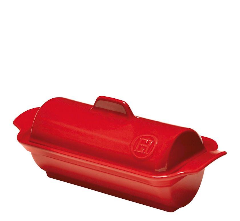 Fua-qra üçün forma Emile Henry 23.5x10.5x9 sm, keramika, qırmızı