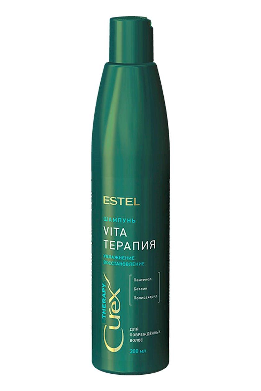 Şampun Estel Professional Curex Therapy Shampoo zədələnmiş saçlar üçün 300 ml