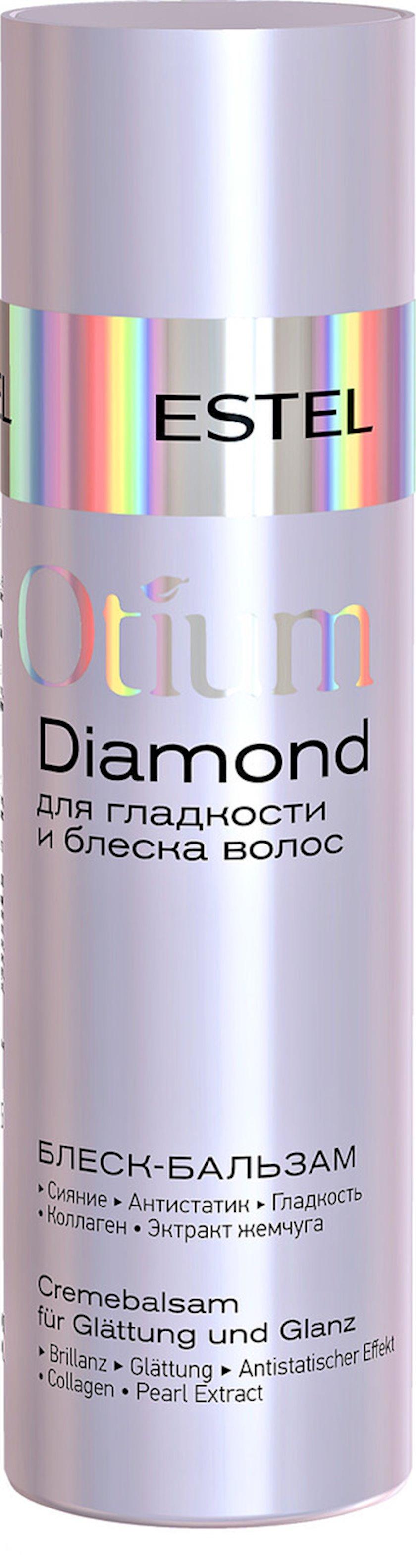 Balzam-parıltı saçların parıltısı və hamarlığı üçün Estel Professional Otium Diamond, 200 ml
