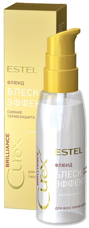 Flüid-parıltı termal müdafiə ilə Estel Professional Curex Bütün saç növləri üçün 100 ml