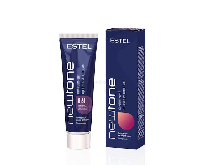 Saç tonlaşdırıcı maska Estel Professional NewTone 8/61, 60 ml