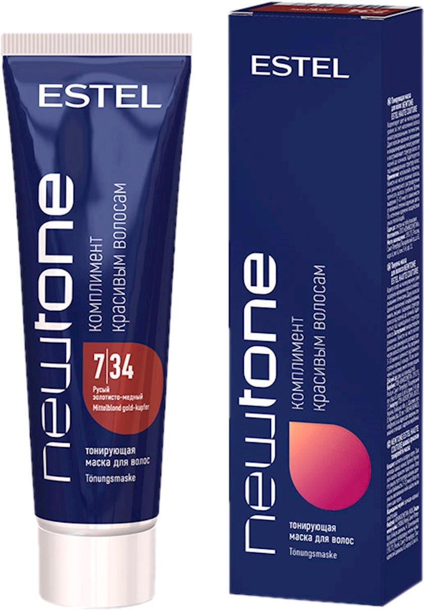 Saç tonlaşdırıcı maska Estel Professional NewTone 7/34, 60 ml