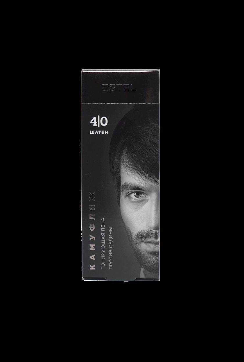 Saç kamuflyajı üçün dəst Estel Alpha Homme 4/0 Qəhvəyi 10 ml