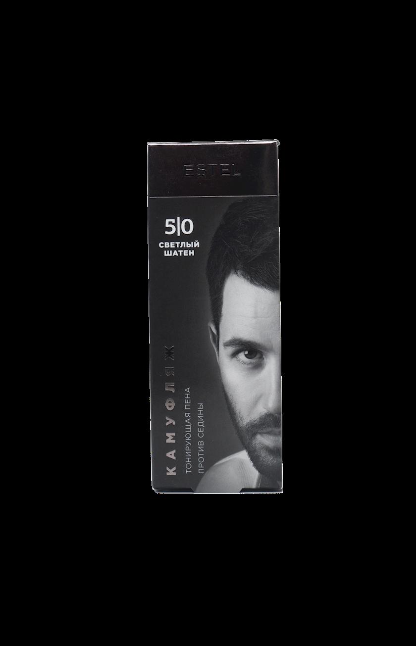 Saç kamuflyajı üçün dəst Estel Alpha Homme 5/0 Açıq qəhvəyi 10 ml