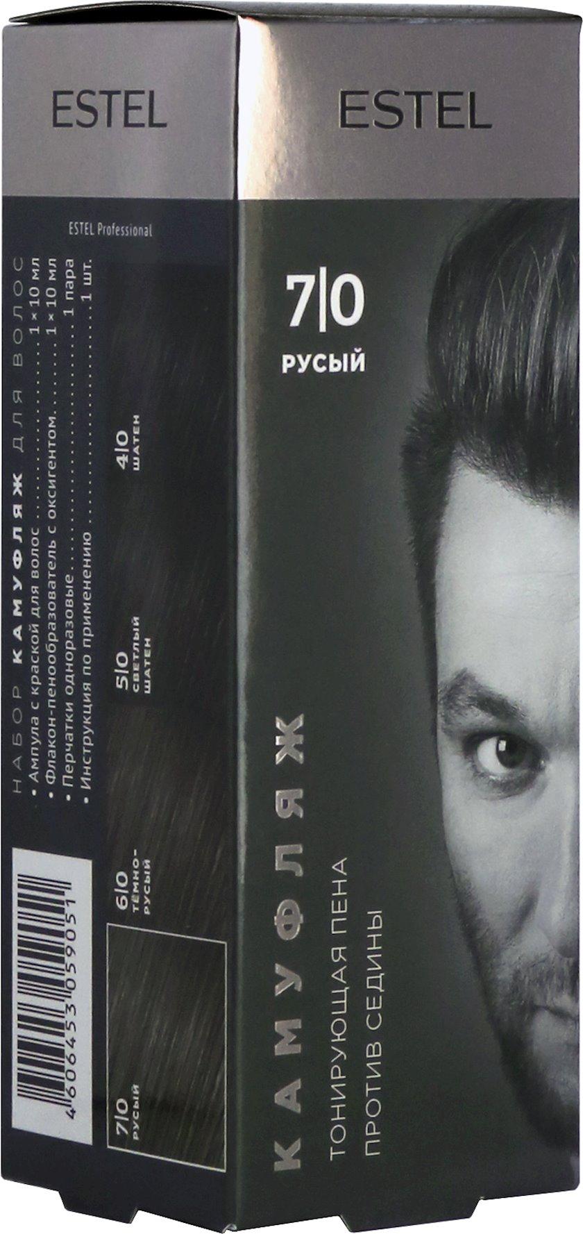 Saç kamuflyajı üçün dəst Estel Alpha Homme 7/0 Xurmayı 10 ml