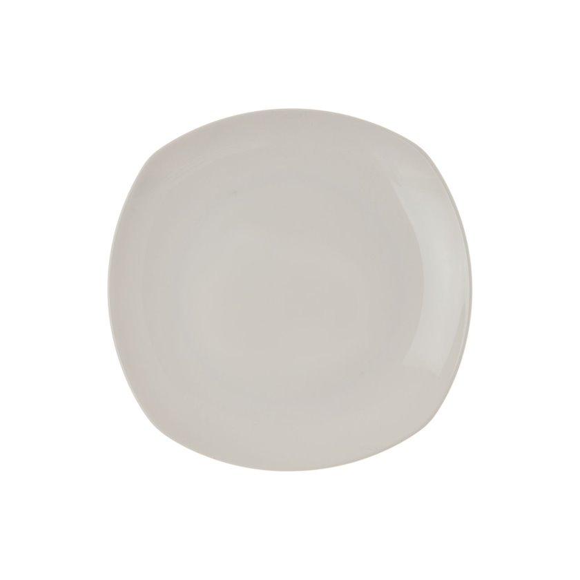 Yemək boşqabı Wilmax WL-991002/A, kvadrat, çini, ağ, 28 sm
