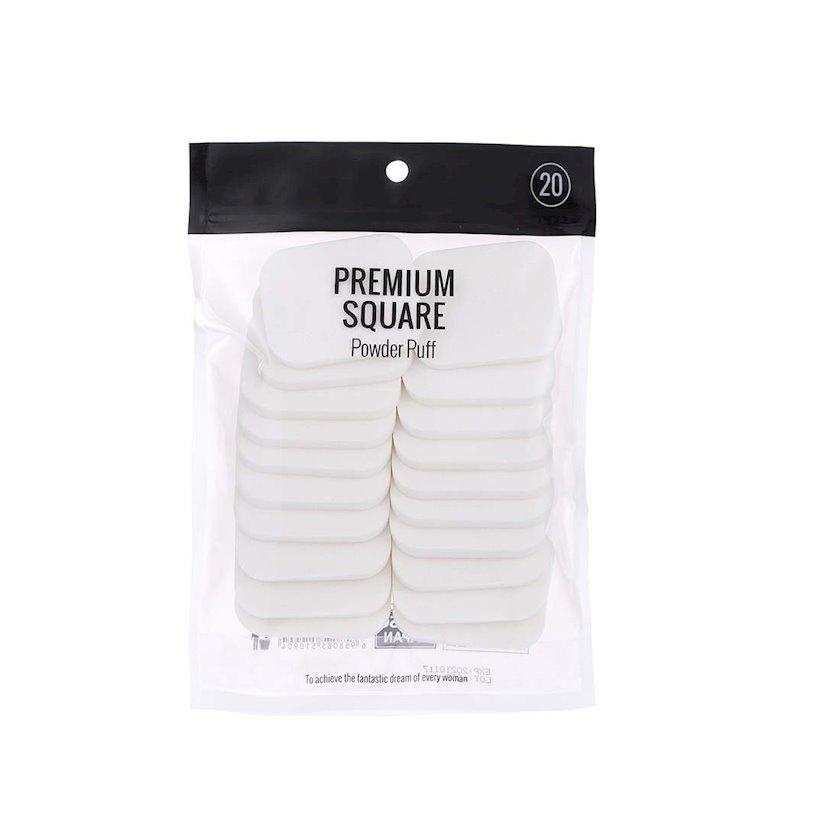 Pudra yastığı Miniso Premium Square Powder Puff, 20 əd