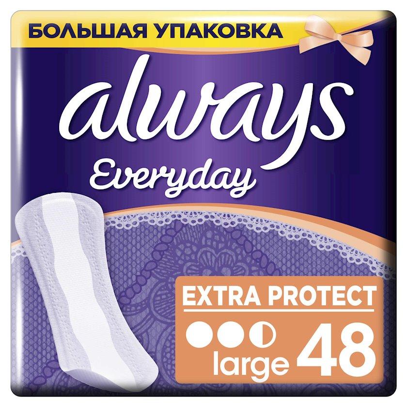 Gündəlik bezlər Always Everyday Extra Protect Large, 48 əd