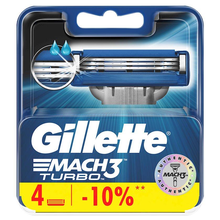 Dəyişdirilə bilən kassetlər Gillette Mach3 Turbo 4 ədəd