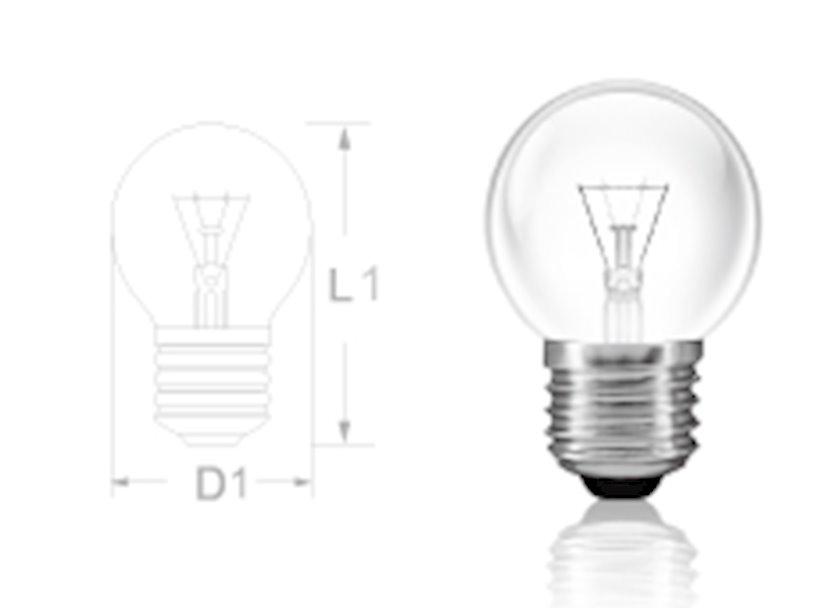 Soyuducu lampası Smile light Е14 40W. Gərginlik: 220 V. İşləmə müddəti: 1000 saat.