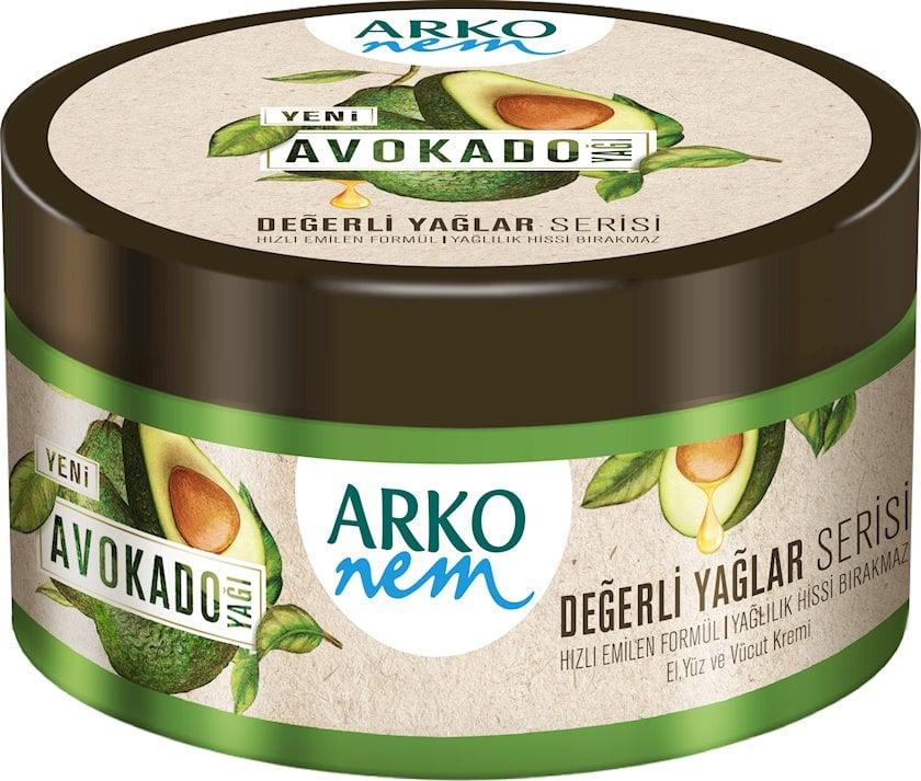 Nəmləndirici üz və bədən kremi Arko Avokado 250 ml