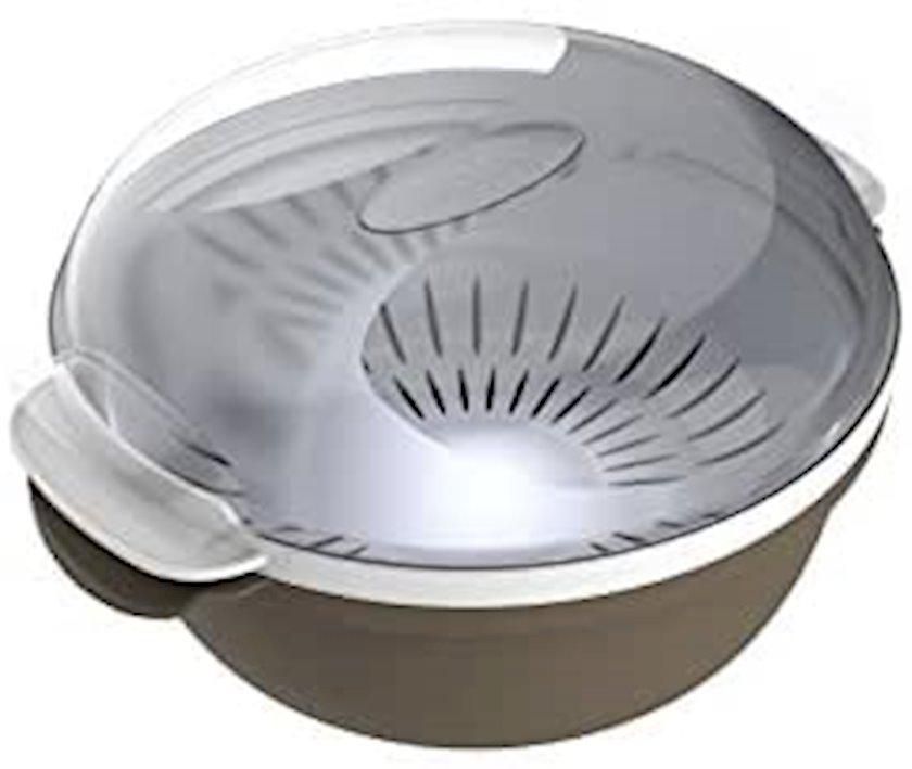 Mikrodalğalı sobada buxarda bişirmə üçün konteyner Bama Tortora 1.8 l