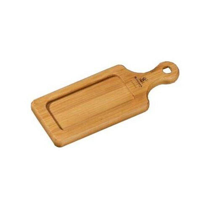 Süfrə lövhəsi bambuk Wilmax Bamboo, düzbucaqlı, 17 x 7 sm