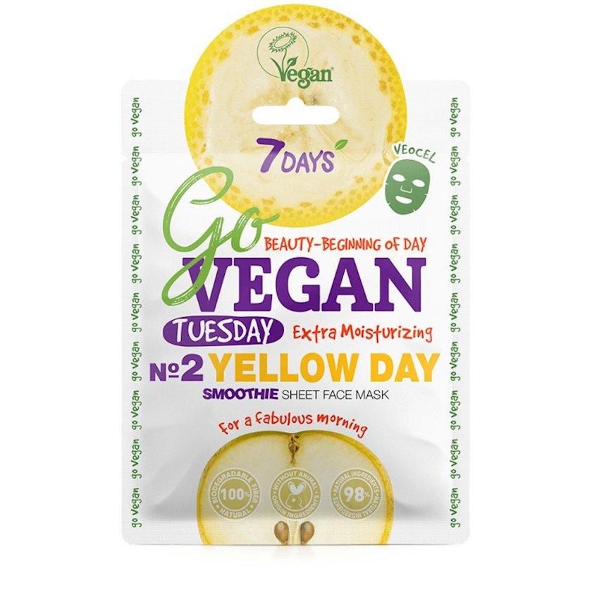 Üz üçün smoothie-maska 7 Days Go Vegan Tuesday Yellow Day Xeyirxah səhər üçün