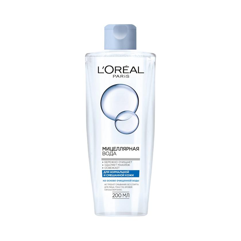 Misellyar su L'Oréal Paris normal və qarışıq dəri üçün 200 ml