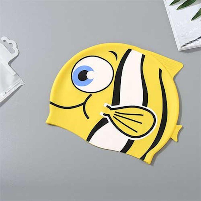 Üzgüçülük üçün papaq Ximivogue Lovely Cartoon Fish Swimming Cap for Children, sarı