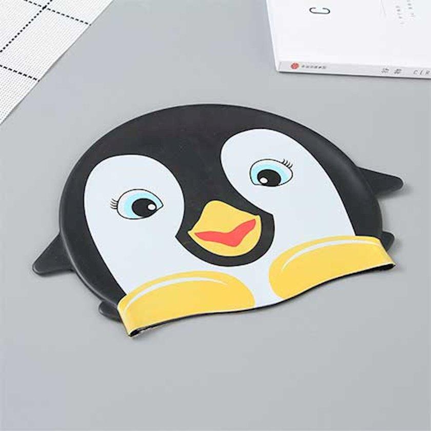 Üzgüçülük üçün papaq Ximivogue Lovely Cartoon Penguin Swimming Cap for Children, qara
