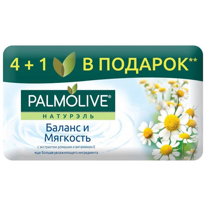Palmolive Naturel tualet sabunu çobanyastığı ekstraktı və E vitamini ilə balansı və yumşaqlıq 4+1 hədiyyə olaraq 5 x 70 q