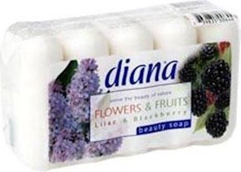 Sabun Diana frut&flowers   ecopack \ qaragilə, yasəmən 5х 75 qr.