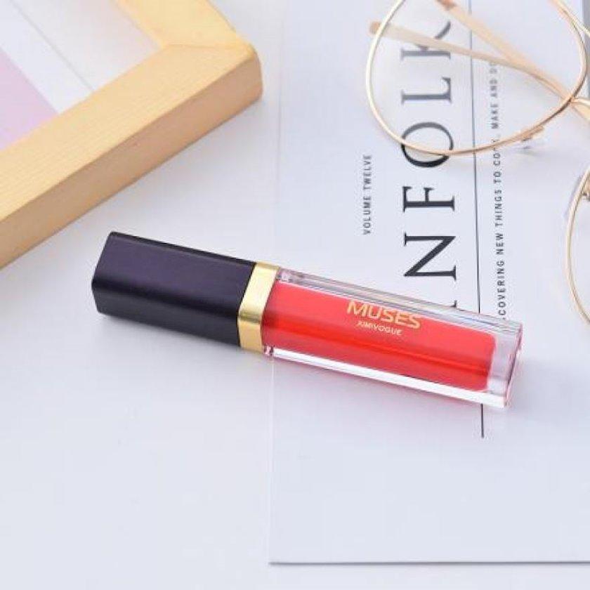 Dodaq boyası maye Ximi Vogue Admire the soft purple lip glaze 4 Rose red
