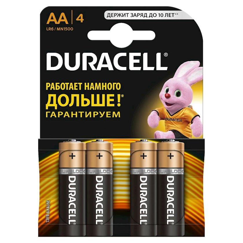 Batareya Duracell Basic AA (LR06, 15А), 1.5V, 4 əd