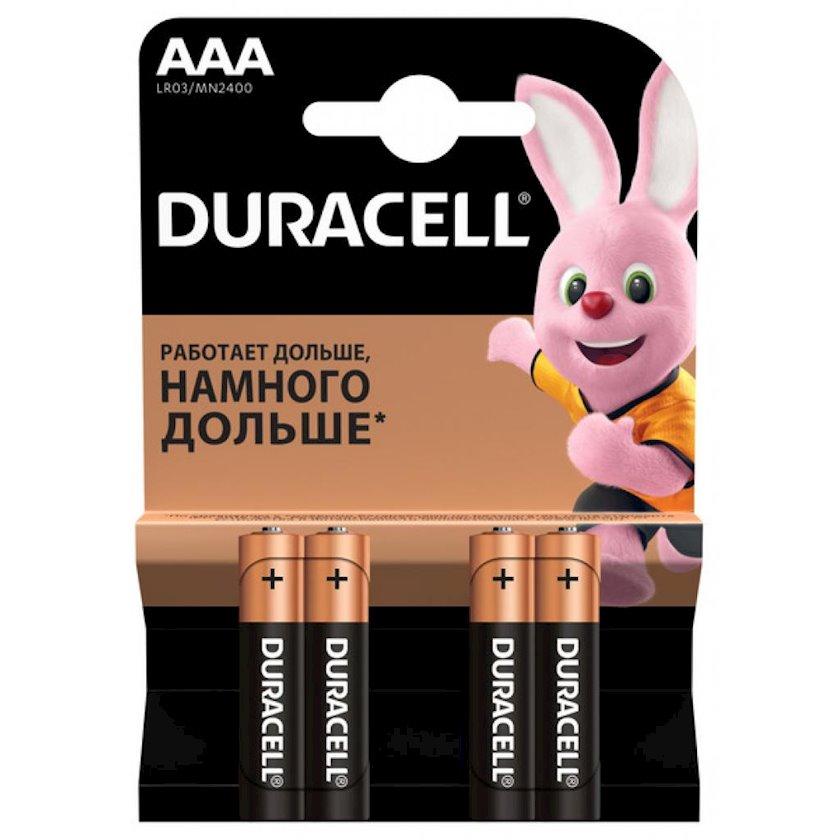 Batareya Duracell Basic AAA LR03 Basic MN2400, 1.5V, 4 əd, 89 q