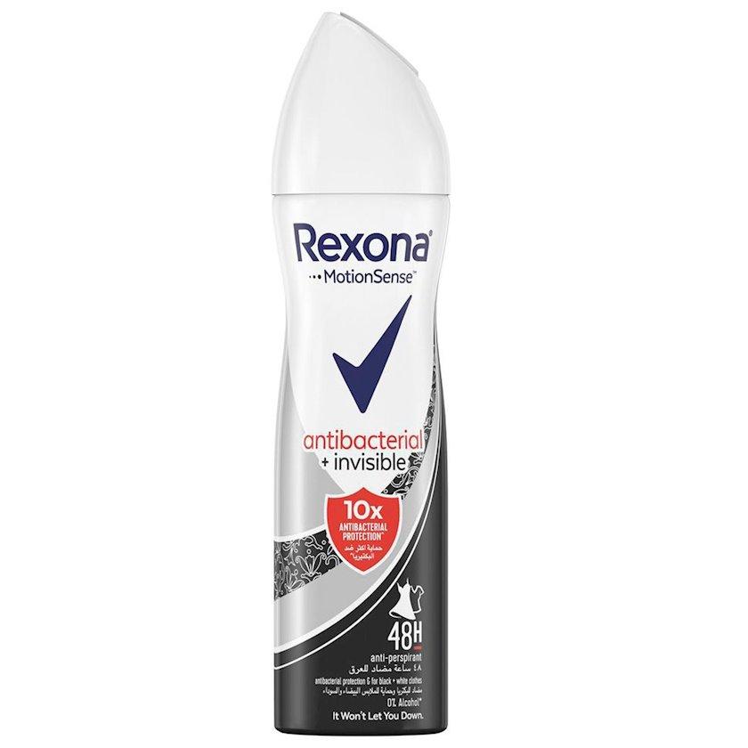 Antiperspirant-sprey Rexona antibakterial və görünməz müdafiə 150 ml